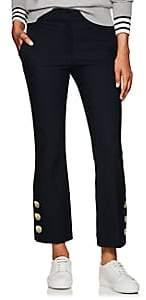 Derek Lam 10 Crosby Women's Button-Hem Cotton Crop Flared Pants - Navy