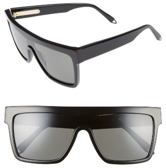 Women's Victoria Beckham 57Mm Flat Top Sunglasses - Black/ Black $450 thestylecure.com
