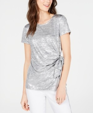 INC International Concepts I.n.c. Side-Tie Shine Top, Created for Macy's