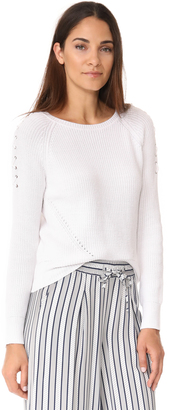 525 America Crop Shaker Crew Lace Up Top $80 thestylecure.com