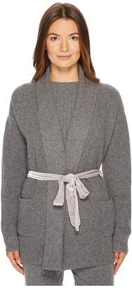 Cashmere In Love Tracy Cardigan with Velvet Back Women's Sweater