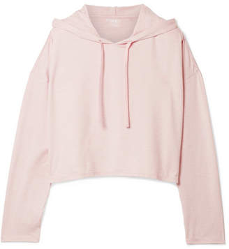 We/Me - The Zen Stretch-jersey Hoodie - Pastel pink