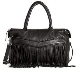 Day & Mood Esther Fringe Leather Satchel