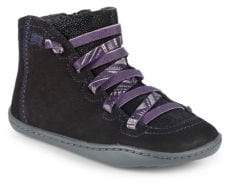 Camper Little Girl's Leather High-Top Sneakers