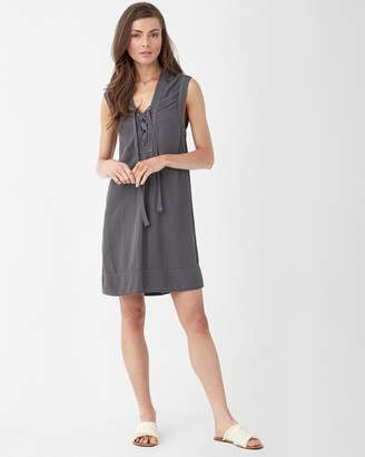 Splendid Crosshatch Lace Up Dress