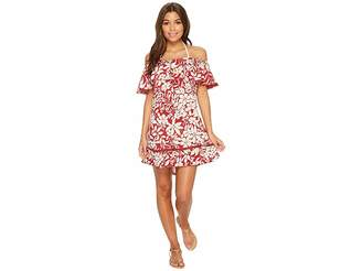 Red Carter Shanghai Off the Shoulder Dress Cover-Up Women's Swimwear