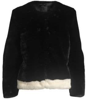 Saks Fifth Avenue COLLECTION Heurueh Faux Fur Plush Jacket