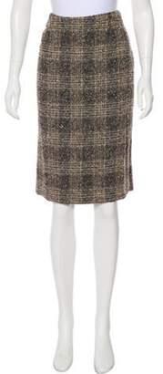 Valentino Knee-Length Wool Skirt Brown Knee-Length Wool Skirt