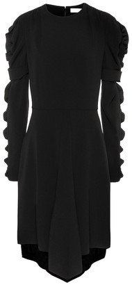 Chloé Ruffled crepe dress
