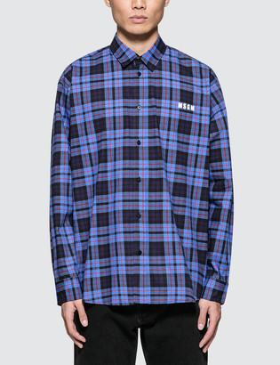 MSGM L/S Check Shirt
