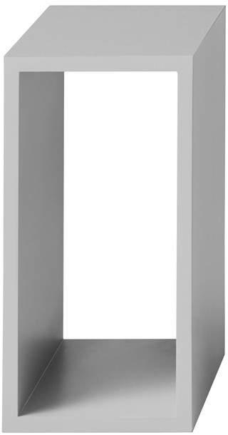 Muuto - Stacked Regalmodul ohne Rückwand, small, Hellgrau
