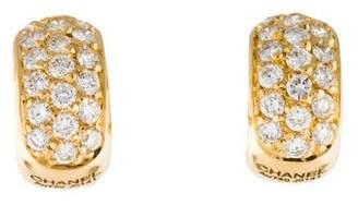 Chanel 18K Diamond Clip-On Earrings