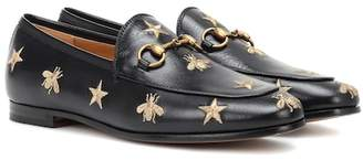 6c4cf812a1f Gucci Jordaan embroidered leather loafers