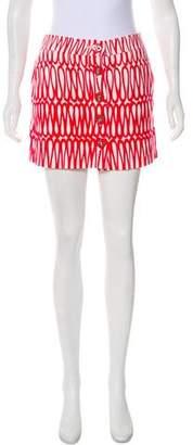 Tibi Knit Print Mini Skirt