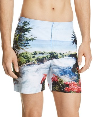 Orlebar Brown Bulldog Seaside Rapids Swim Trunks $345 thestylecure.com