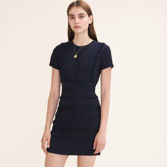 Maje Short dress with frill detailing