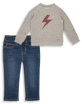 Hudson Baby Boy's& Little Boy's French Terry Sweater& Jeans Set