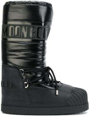 4e1e6a0a3984 Moncler Black Rubber Sole Boots For Women - ShopStyle Canada