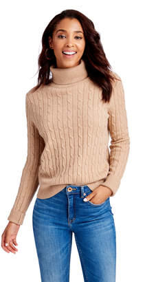 Vineyard Vines Heathered Cashmere Coral Lane Turtleneck