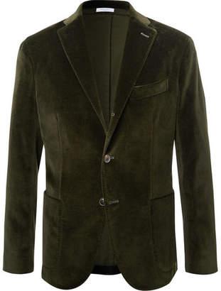 Boglioli Emerald Unstructured Stretch-Cotton Velvet Blazer