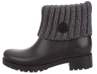 Moncler Ginette Rubber Rain Boots Grey Ginette Rubber Rain Boots