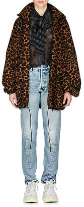 Balenciaga Women's Leopard-Print Fleece Jacket