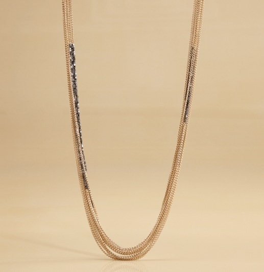 Multi-Strand Nugget + Chain Necklace