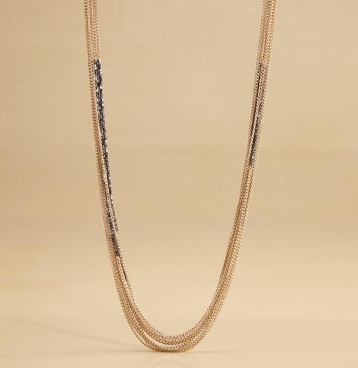 Multi-Strand Nugget + Chain Necklace