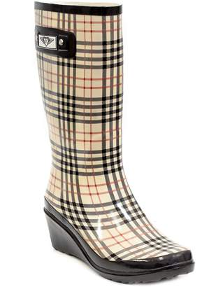 Forever Young Women's & Ladie's Wedge Heel Rubber Rain Boots / Snow Boots (7, )