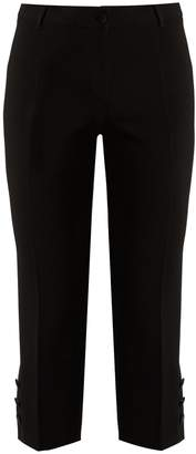 Dolce & Gabbana Button-cuff cropped wool-blend trousers