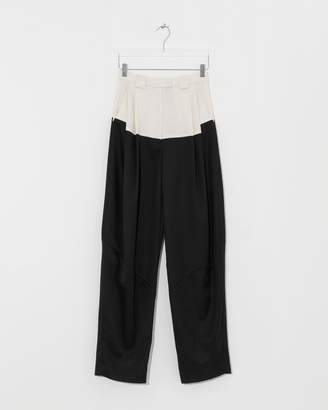 Rachel Comey Off White-Black Divide Pant