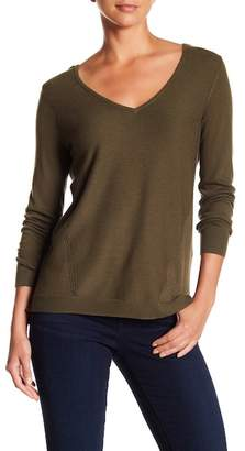 NYDJ V-Neck Long Sleeve Knit Sweater