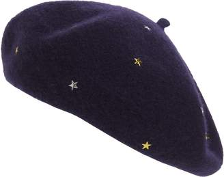 Leith Star Stud Wool Blend Beret