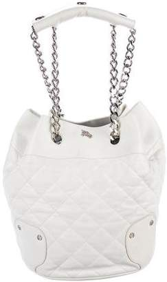 Burberry Quilted Leather Bucket Bag