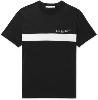 Givenchy Slim-Fit Logo-Print Cotton-Jersey T-Shirt - Men - Black
