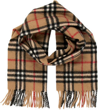 Burberry Cashmere & Wool-Blend Nova Check Scarf $195 thestylecure.com