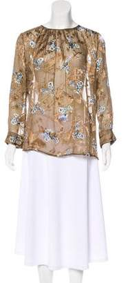 Preen by Thornton Bregazzi Patterned Long Sleeve Blouse