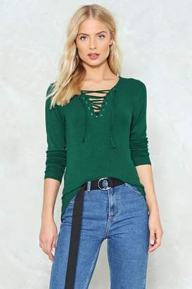 Nasty Gal Pull in the Reins Ribbed Top