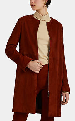The Row Women's Anka Suede Coat - Red