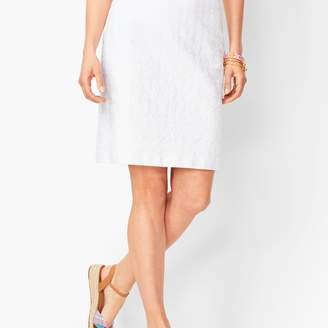Talbots Classic Cotton A-Line Skirt - Embroidered