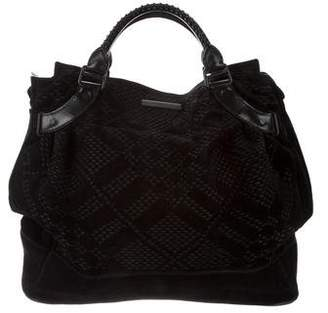 Burberry Perforated Oversize Hobo