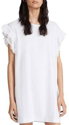 AllSaints Senna Adelaide Eyelet-Sleeve T-Shirt Dress