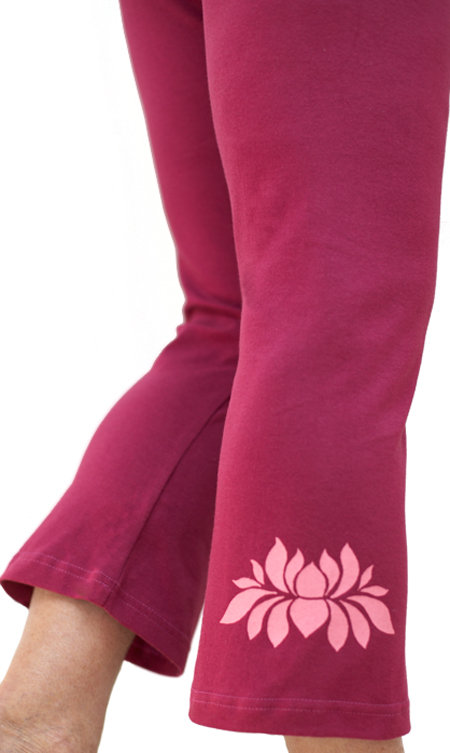 Pink Lotus Squeezed Berry Capri with