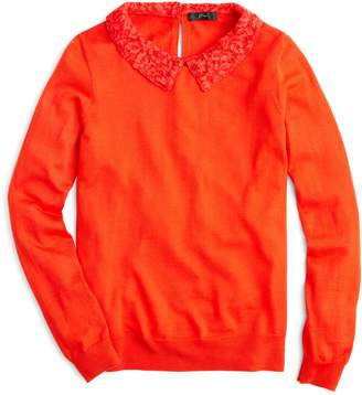 J.Crew Tippi Sweater with Lace Collar