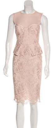 Emilio Pucci Peplum Knee-Length Dress