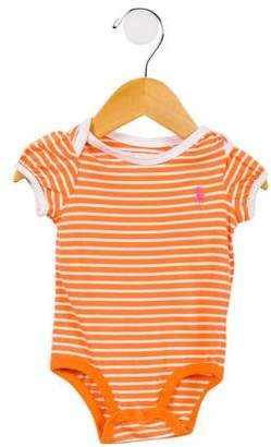 Ralph Lauren Girls' Striped All-In-One