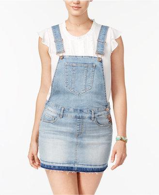 Dollhouse Juniors' Denim Overall Skirt $49 thestylecure.com