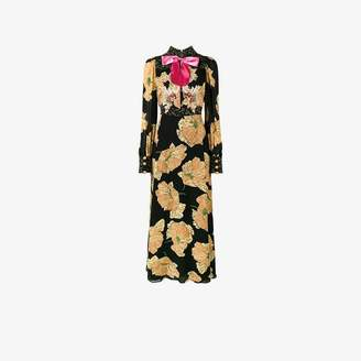 4b9fbbdf9 Gucci Ladies Black Embroidered Poppy Print Gown, Size: 42