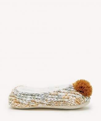 Sole Society Heather Knit Slippers with Pom Pom