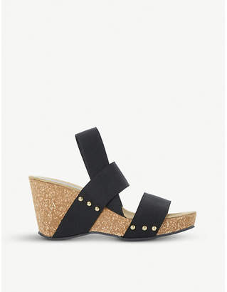 Dune Kassii studded cork-wedge sandals